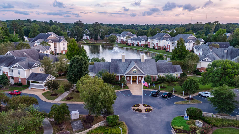 Aerial View of Harbour Breeze Apartments